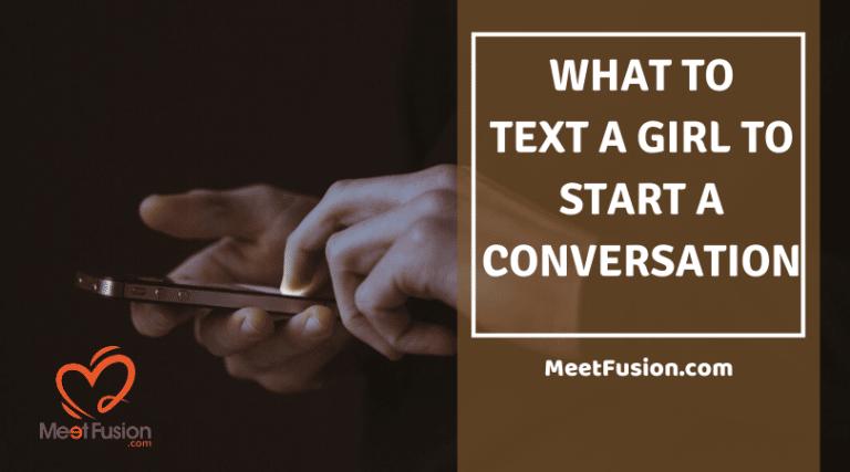 text a girl to start a conversation