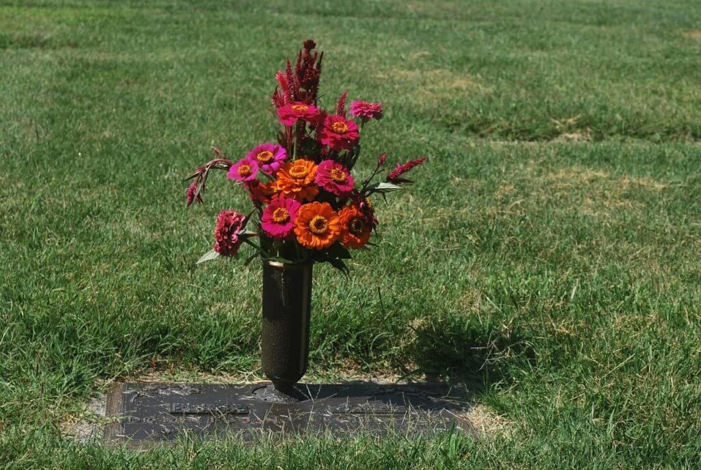 grave, flower,