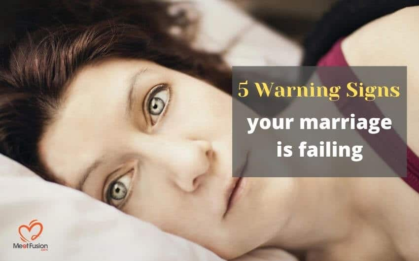 Tell tale signs your marriage is over